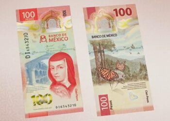 El nuevo billete de 100 pesos con Sor Juana Inés de la Cruz y la reserva de la mariposa monarca