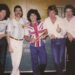Maradona durante un concierto de Queen en Argentina