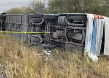 El autobús de FRENAAA regresaba de la CDMX