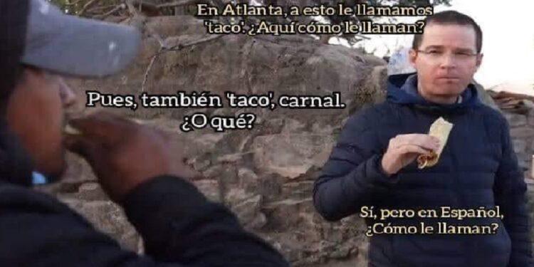 Ricardo Anaya tomó con humor los memes sobre su gira por mil municipios y él mismo compartió otro video donde aparece comiendo taco
