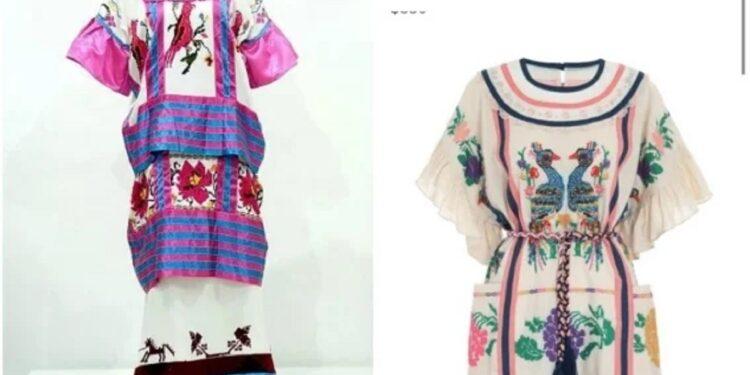 """La marca de moda australiana oferta un """"minivestido"""" con bordados similares a los del huipil mazateco"""