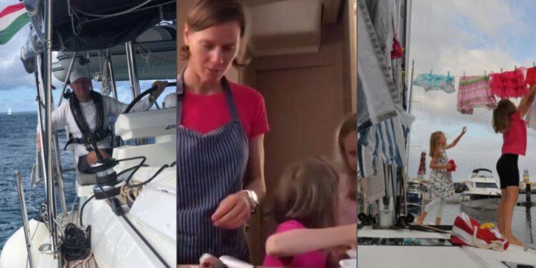 Familia huye del coronavirus y en su barco viaja por el mundo en plena pandemia